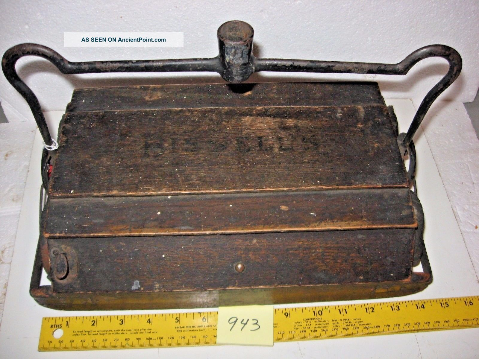Bissell Cyco Bearing Grand Rapids Wood Floor Carpet Sweeper Vacuum Vintage.  Inv9 Other Antique Home & Hearth photo