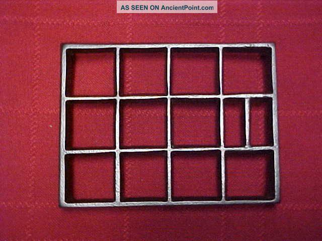Vintage Cast Iron Rectangular 4 1/2