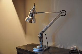 Anglepoise Lamp 1930 ' S Deco Retro English Design Classic Early Rimmed Shade photo