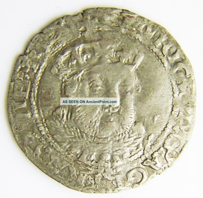 Tudor Silver Groat Of King Henry Viii York 1544 - 1547 A.  D. British photo