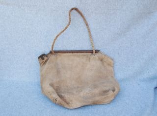 Canvas Water Bag Camping Auto Radiator Vintage Wall Hanger Rustic 11