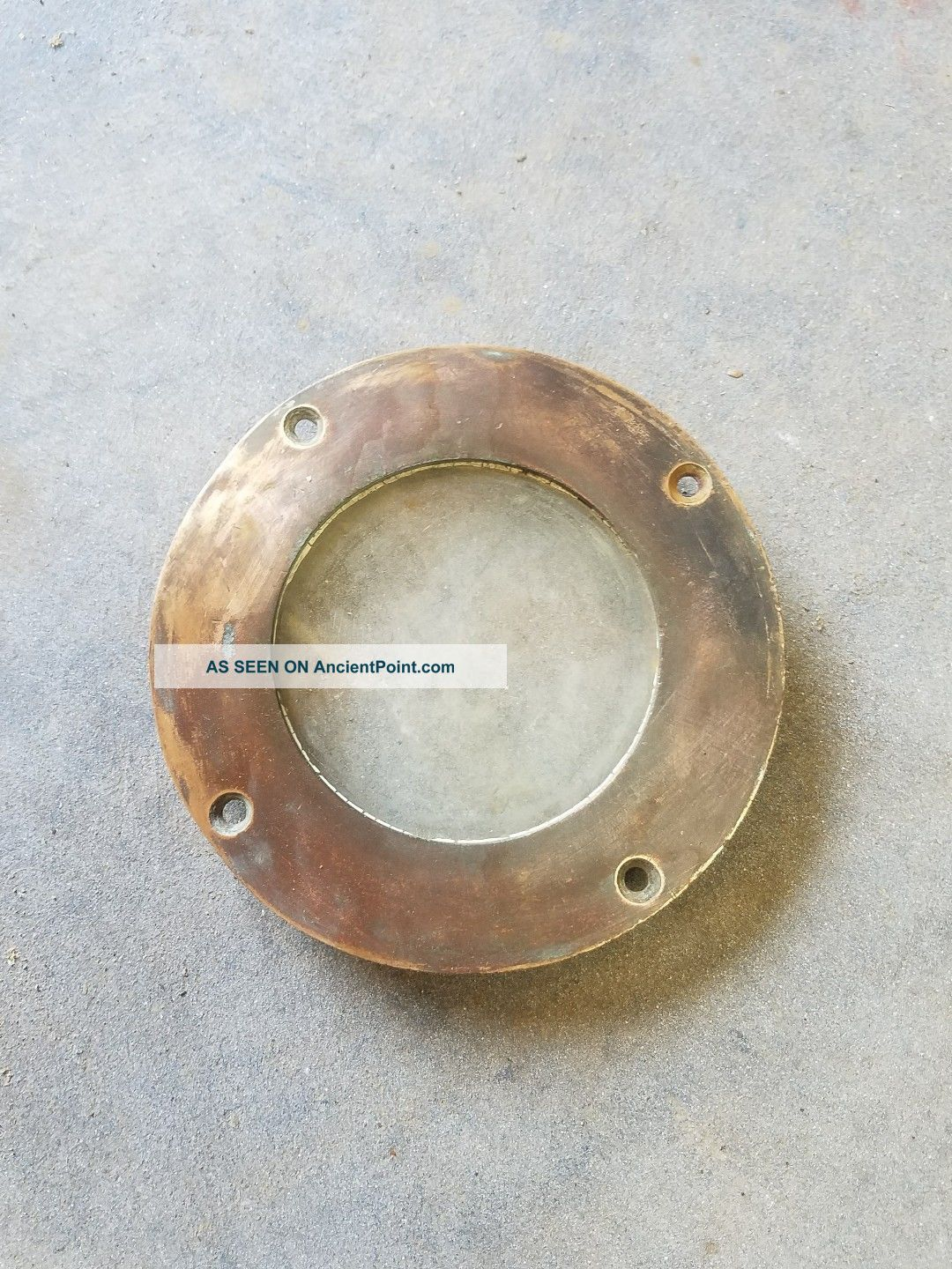 Vintage Bronze Porthole Sailboat Powerboat Marine Deck Hardware Antique 1960 Portholes photo
