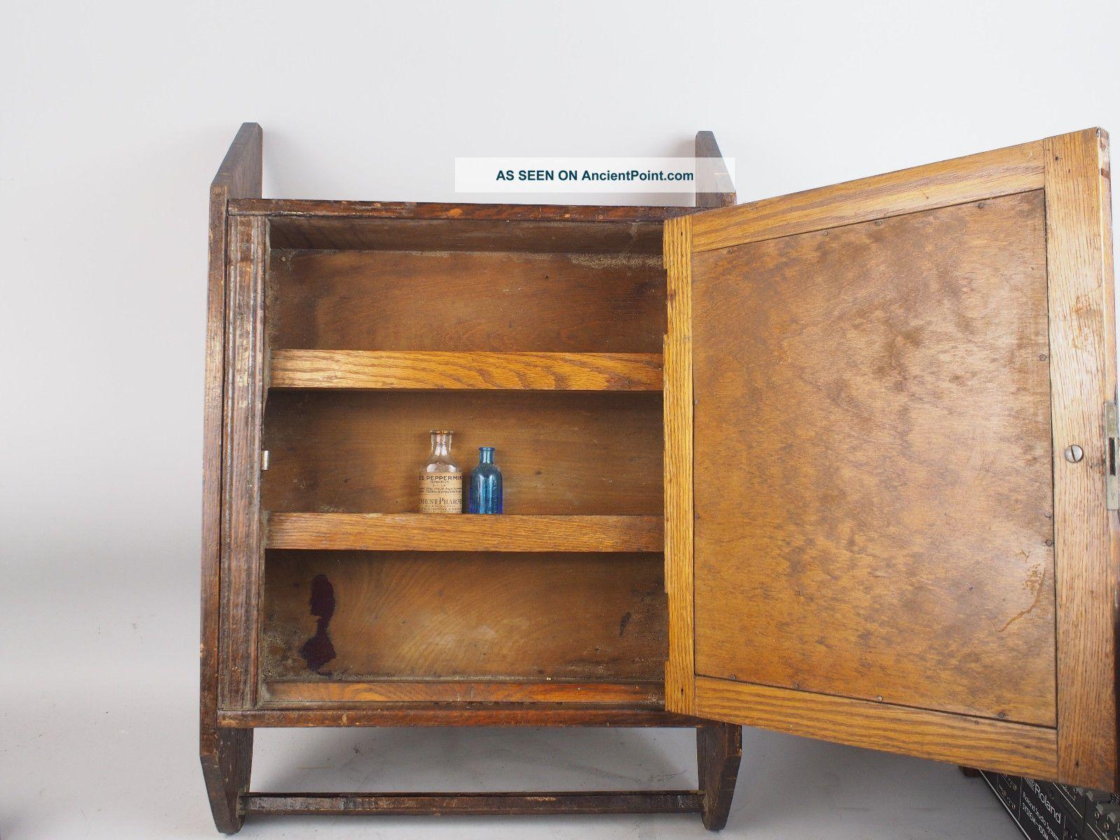 Antique Mason ' S Towel Supply Co Wood Medicine Bathroom ...