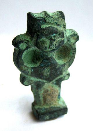 Large Circa.  2000 B.  C Ancient Egypt Old Kingdom Bastet Amulet Pendant - Cat Form photo