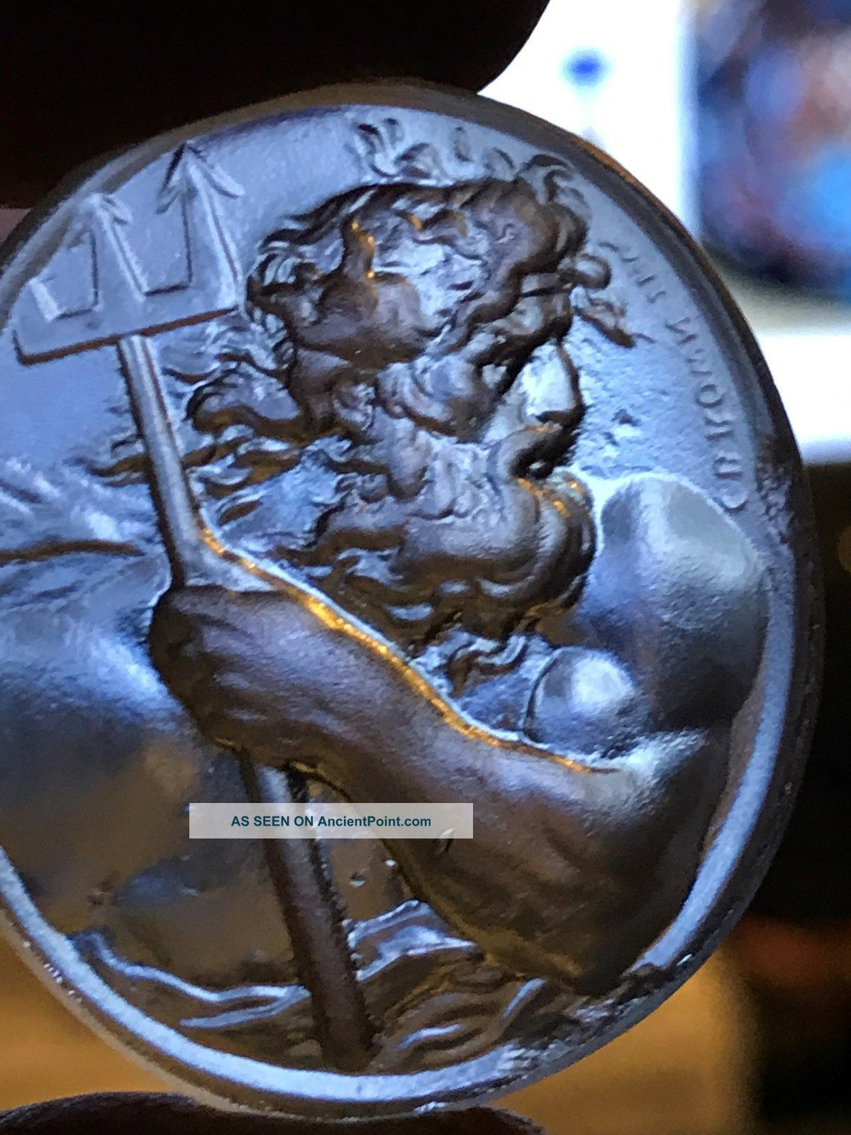 Glass Grand Tour Intaglio Cameo Medici Gem Venetian Stamp James Tassie Roman photo
