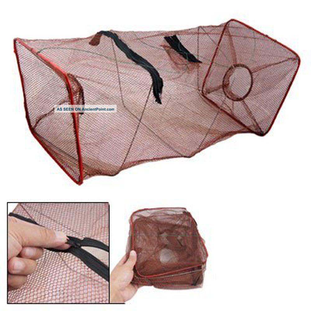 Black Fishing Trap Net For Crab Prawn Shrimp Crayfish Lobster Bel Live Bait Pot See more B69 Brown Fishing Trap Net for Crab Prawn Shri... photo