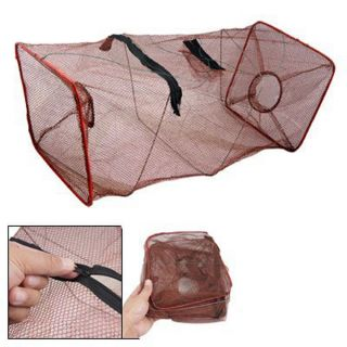 Black Fishing Trap Net For Crab Prawn Shrimp Crayfish Lobster Bel Live Bait Pot photo