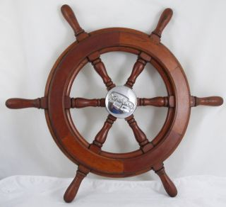 Antique Salvaged Trojan Helm Wheel Ship Wheel 22