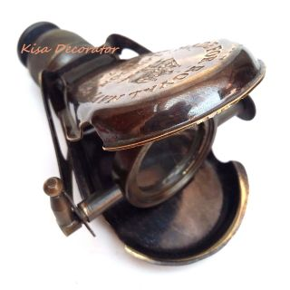 Brass Telescope Monocular Antique Made For Royal Navy London 1917 For Gift & Use photo