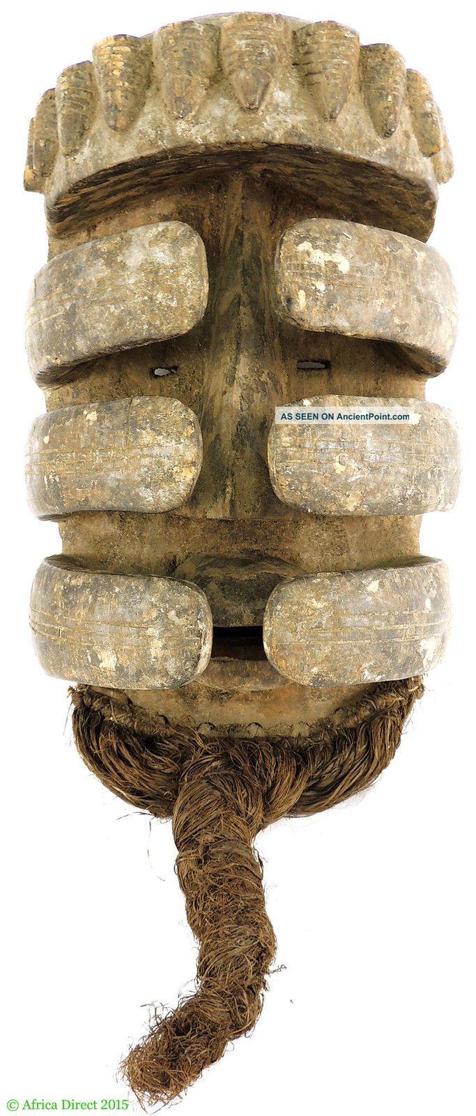 Bete Nyabwa Spider Mask Hiding Face Liberia African Art Masks photo
