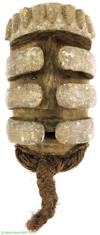 Bete Nyabwa Spider Mask Hiding Face Liberia African Art photo