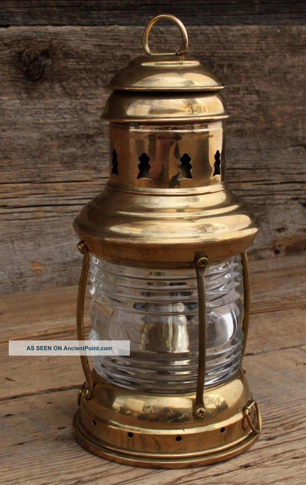 Vintage Perko Brass Ships Lantern H - 6 - 71 Never Fired Lamps & Lighting photo
