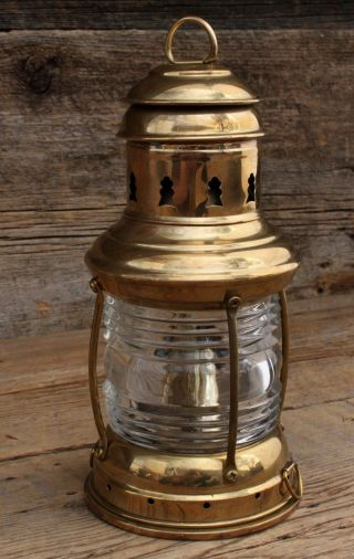 Vintage Perko Brass Ships Lantern H - 6 - 71 Never Fired photo