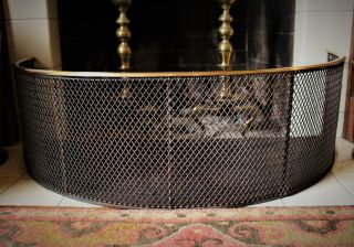 Late 18th C.  Or Early 19th C.  American Or English Brass & Iron Fireplace Fender photo