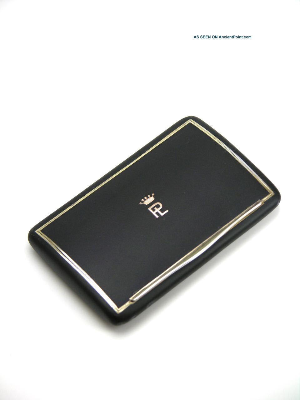 Silver Gilt Black Enamel Case Snuff Box With Coronet Austria 1900 Sterling Silver (.925) photo