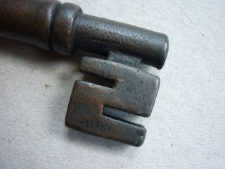 Large & Heavy Antique Brass Or Bronze Door Key photo