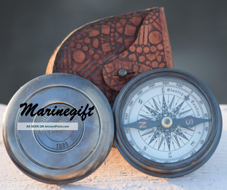 Brass Compass Poem Compass Pocket Compass Engraved Compass Functional Compass Compasses photo
