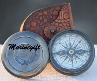 Brass Compass Poem Compass Pocket Compass Engraved Compass Functional Compass photo