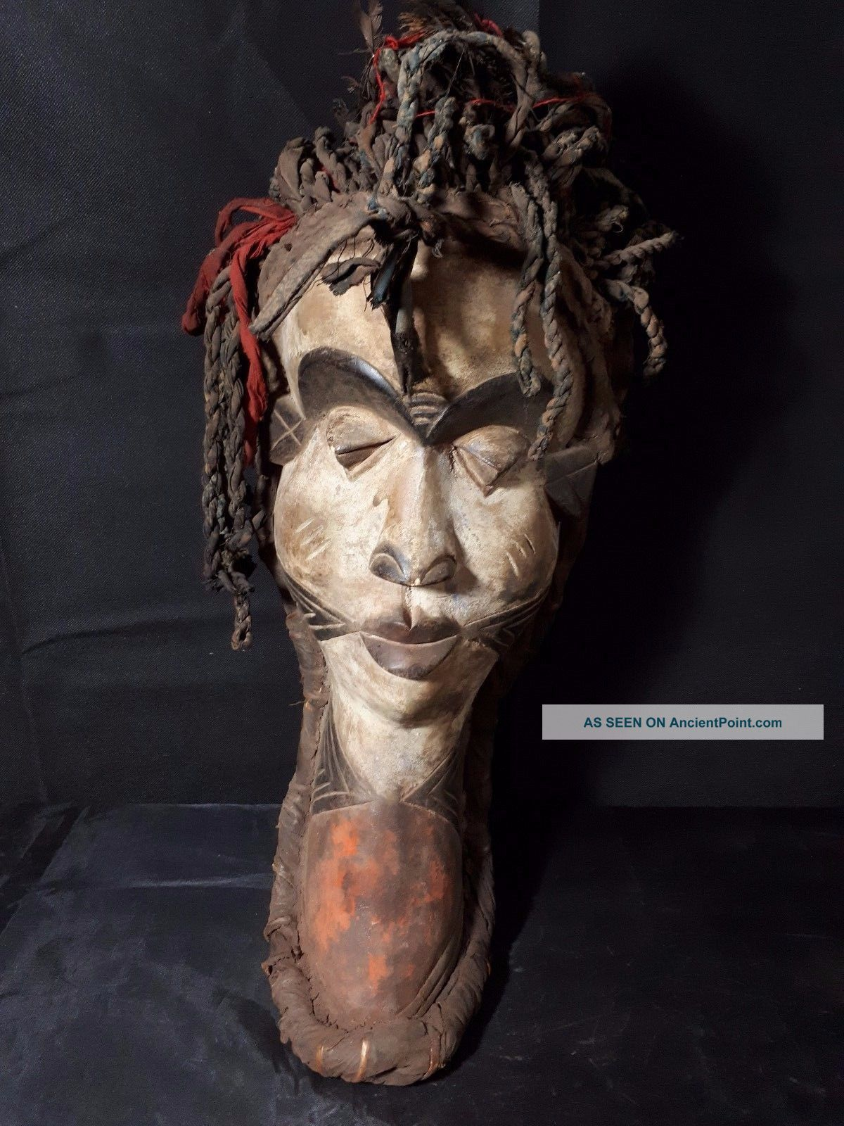 Old Pende Rasta Mask Drc Africa Fes - Gbwxz Other African Antiques photo