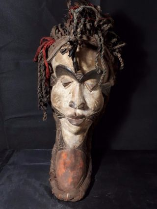 Old Pende Rasta Mask Drc Africa Fes - Gbwxz photo