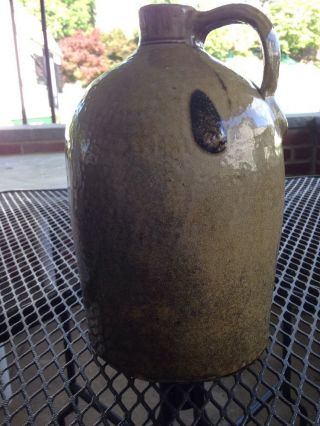Antique Stoneware Jug 19th Century Salt Glaze Turkey Dropping photo