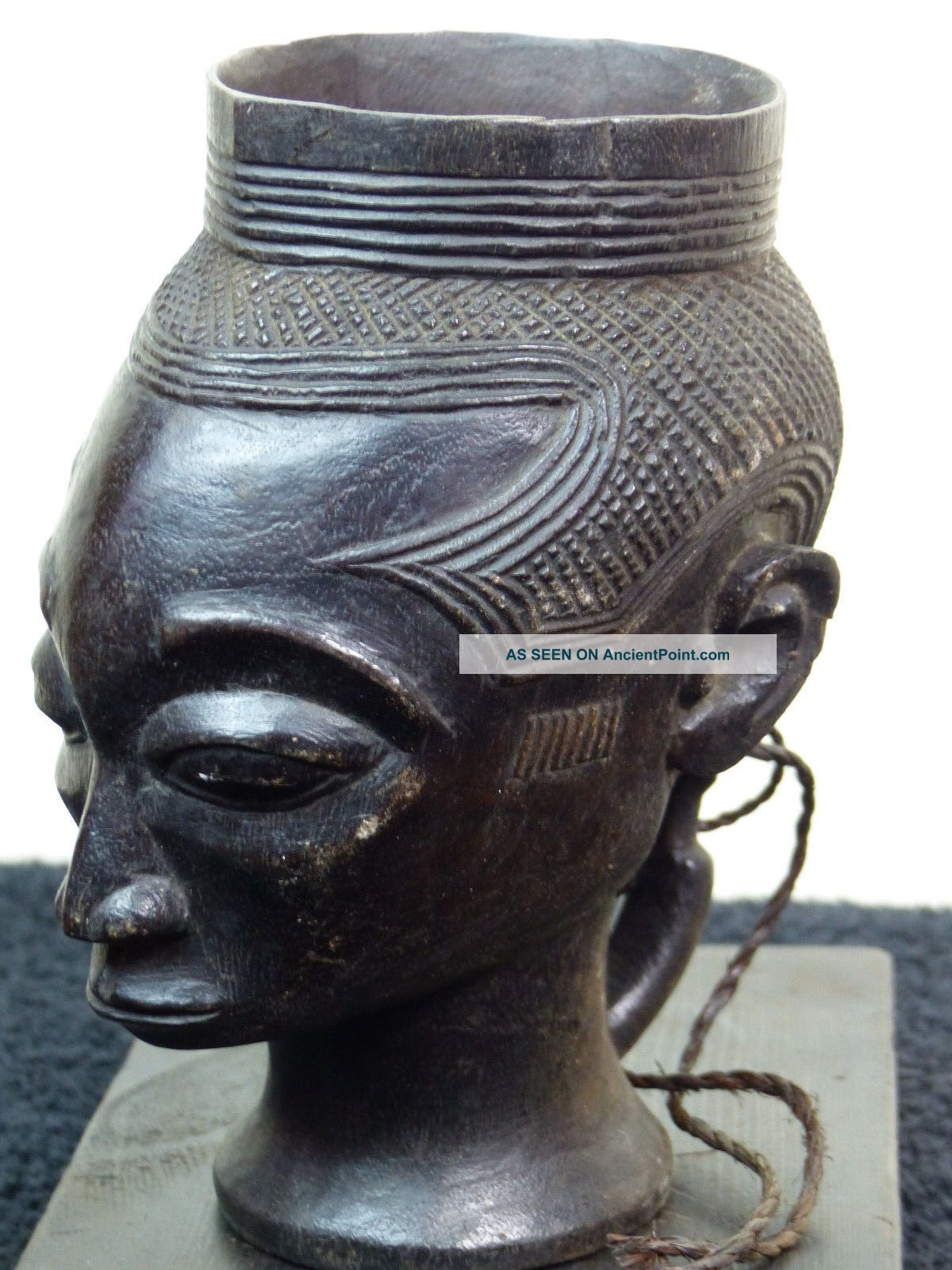Kuba/lele Cup Dr Congo Other African Antiques photo