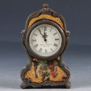 Chinese Brass Handwork Mechanincal Globe Clock Ep0024 photo