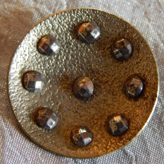 Vintage Button Brass & Cut Steel Rivets 020 - B photo