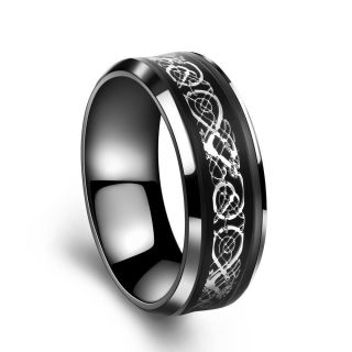 Fashion Jewelry Silver Celtic Dragon Titanium Stainless Steel Rings Size11 Cx142 photo