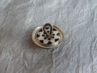 Antique Vintage Brass Button With Cut Steel Revets 911 - A photo