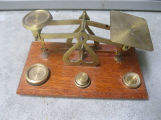 Vintage Jewelry Apothecary Gold Scales,  Weights Made England Warranted Accuracy photo