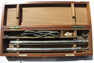 Vintage Sigmoidoscope Allen & Hanburys Ltd London Wooden Case With Bulb photo