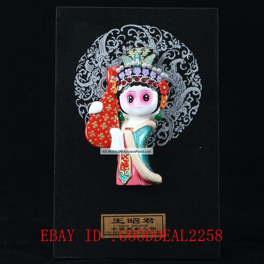 Chinese Lacquer Handmade Wang Zhao Jun Statue Lp11 Figurines & Statues photo