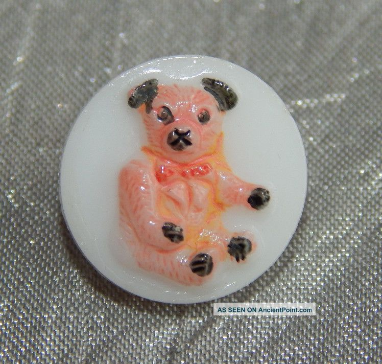 Vintage Realisticglass Button Teddy Bear 359 - B Buttons photo