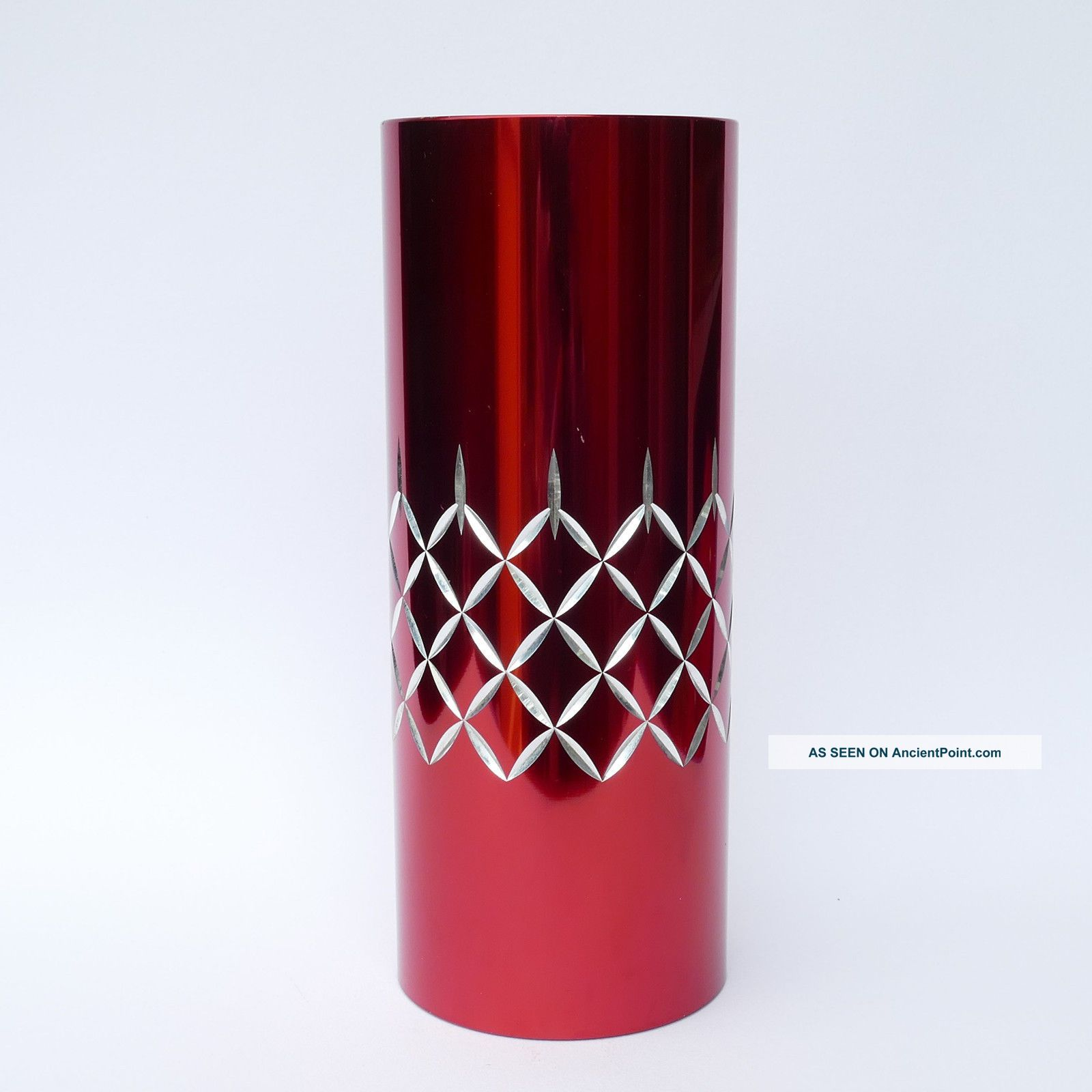 Conrah Cristillium - Ex - Large 25.  5cm Vase - Red - Mid Century Modern Design Mid-Century Modernism photo