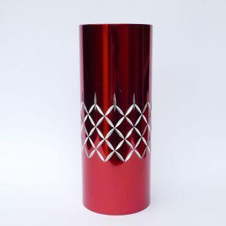 Conrah Cristillium - Ex - Large 25.  5cm Vase - Red - Mid Century Modern Design photo