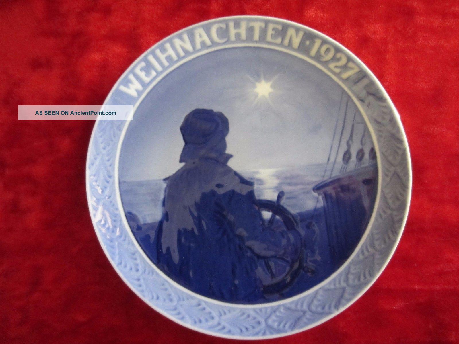 Royal Copenhagen Denmark 1927 Weihnachten Hanging Plate Porcelain Sailor/star Plates & Chargers photo