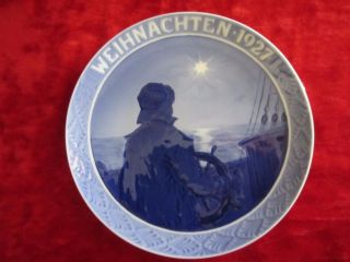Royal Copenhagen Denmark 1927 Weihnachten Hanging Plate Porcelain Sailor/star photo