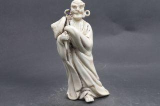 China Carved White Porcelain Jingdezhen Statue Y374 photo