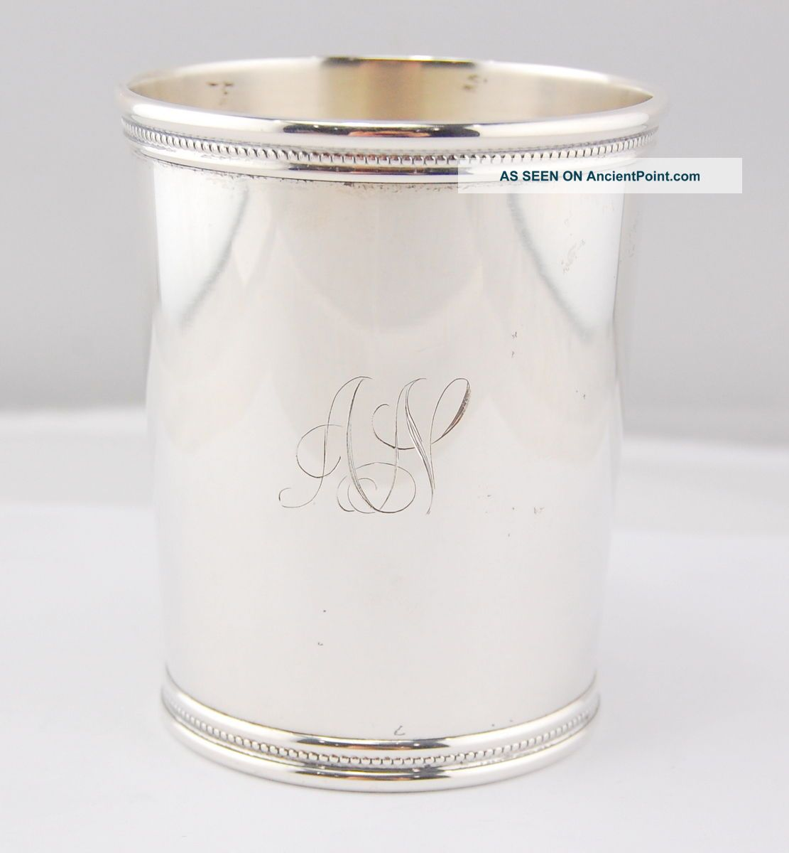Mark J Scearce Shelbyville Ky Sterling Silver Julep Cup 3 Cups & Goblets photo