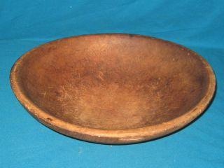 Antique Primitive American Wooden Dough Bowl 13 1/4