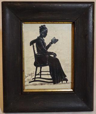 1841 Silhouette Samuel Metford Haven Antique American Portrait photo