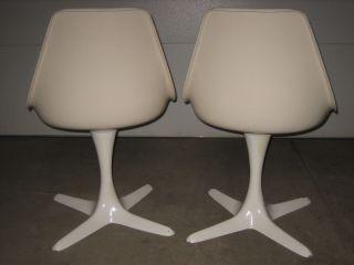 2 Burke 115 Mcm Mid Century Modern Knoll Style Tulip Chairs Armless Euc photo