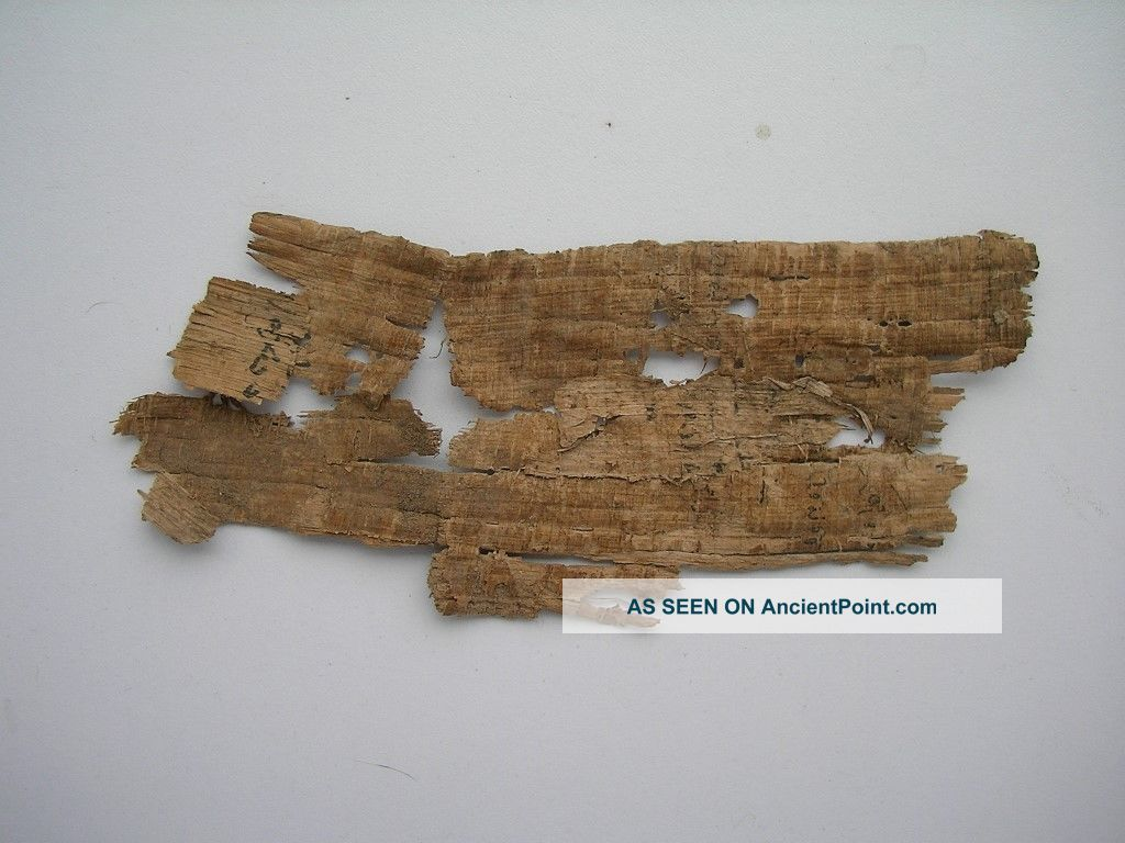 Ancient Antique Rare Old Egypt - Egyption Papyrus Manuscript Fragment Manuscripts photo