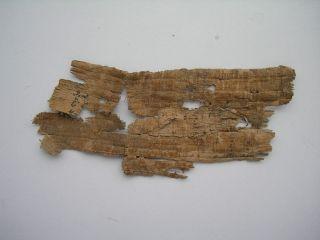Ancient Antique Rare Old Egypt - Egyption Papyrus Manuscript Fragment photo