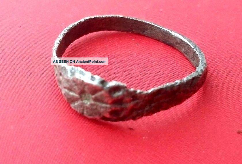 Ancient - Roman Silver Ring 1.  4g.  1.  5mm - Rare Roman photo