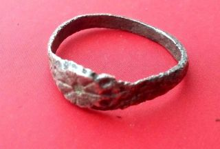 Ancient - Roman Silver Ring 1.  4g.  1.  5mm - Rare photo