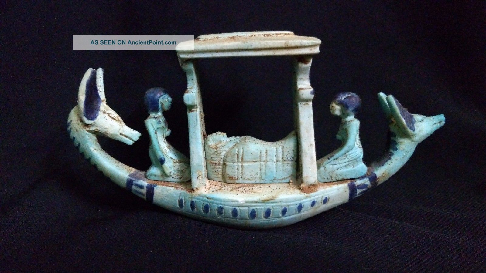 Ancient Egyptian Boat Of God Anubis (2686–2181) Bc Egyptian photo