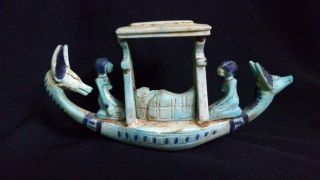 Ancient Egyptian Boat Of God Anubis (2686–2181) Bc photo
