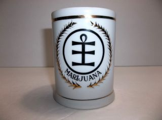 Vintage Freeman Lederman Marijuana Herb Porcelain Apothecary Jar photo